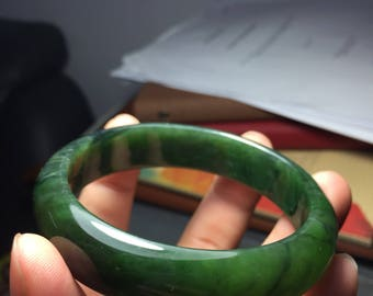Nephrite jade bangle