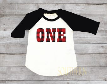 Lumberjack Birthday, Lumberjack First Birthday, Buffalo Plaid Birthday, Plaid Birthday Shirt, Birthday Outfit, One, Two, Three, Four, Five