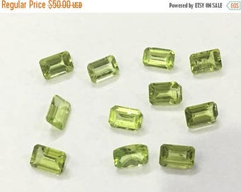 Exclusive Quality Peridot Baugette Cutstones 4x6 mm approx , 6 carets , 11 piece