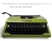 Green Typewriter, Portable Typewriter in perfect working order Remington Typewriter 10/30 Vintage Typewriter, Retro Typewriter, Writers Gift