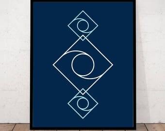 Geometric Print, Geometric Decor, Modern Geo Decor, Geometric Wall Art, Scandinavian Print, Minimalist Print, Modern Decor, Minimalist Art