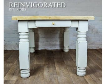 Solid Oak Rustic Dinning Table