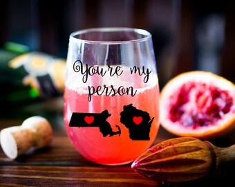 You're My Person Stemless Wine Glass - Best Friend Wine Glass - Grey's Anatomy