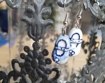 Delftsblue, baby, shoe, earrings,-painted, Dutch, Dutch, souvenir, gift, souvenirs, Netherlands, DELFT