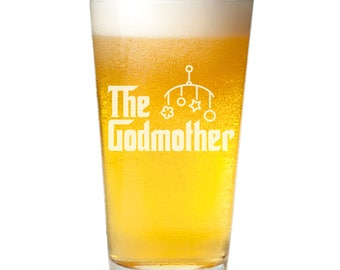 The Godmother15 oz Pint Glass- Christening Gift - NOT Personalized - PNTG3960-ALX6M
