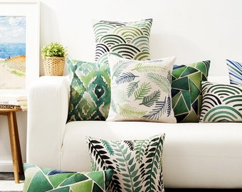 Abstract Green cushion