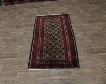 Nice Antique Handmade Tribal Foyer Balouch Persia Area Rug Oriental Carpet 3X6