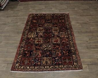 Garden Design Vintage Handmade Bakhtiari Persia Rug Oriental Area Carpet 5ʹ6X8ʹ4