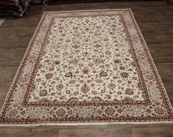 Exquisite Rare Handmade Hafez Poem Tabriz Persian Area Rug Oriental Carpet 9X12
