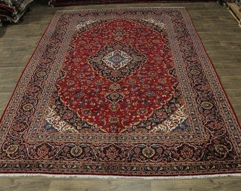 Great Shape Traditional Vintage Kashan Persian Rug Oriental Area Carpet 10X13