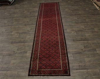 Allover Great Shape Palace Runner Balouch Persian Rug Oriental Area Carpet 3X14