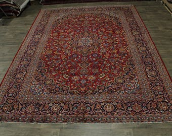 10X14 Nice Traditional S Antique Kashan Persian Rug Oriental Area Carpet 10X13'6