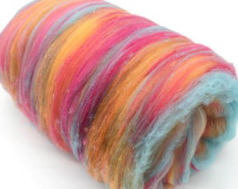 Pool Party - Merino Wool Art Batt