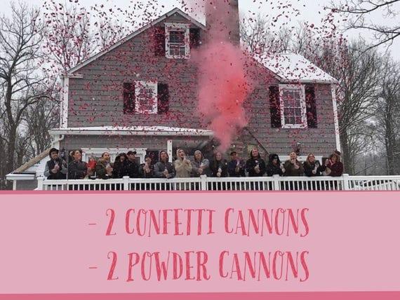 """12"""" POWDER & CONFETTI CANNON Gender Reveal Smoke Powder Cannons and Confetti Cannons! New Gender Reveal Idea! Ships Same Day!"""