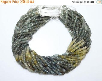 """50% OFF Shaded Moss Aquamarine Faceted Rondelle Beads , Moss Aquamarine Faceted Rondelle Beads , 4.50 mm ,13"""" - MC250H"""