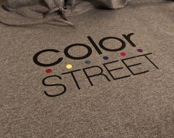 Color Street Logo Hoodie | Stylist Hoodie | Logo Hoodie | Direct Sales Hoodie