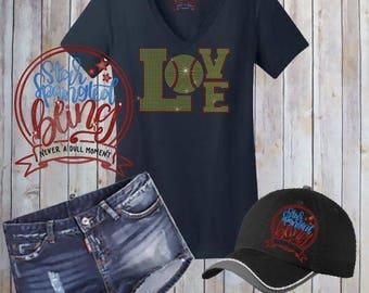 Softball Love Spangle Rhinestone Style Bling T Shirt,Softball Mom Bling Tshirt,Sports Mom Bling,Proud Mom Spangle Bling,Softball Mom T Shirt
