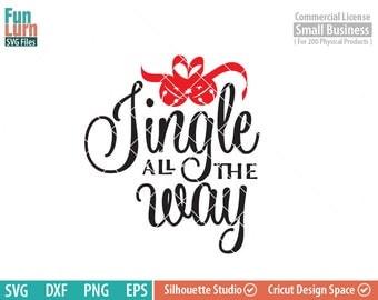 Jingle all the way SVG, Jingle Bells SVG, Believe svg, Christmas svg, word art, stars, Typography,  svg png dxf eps