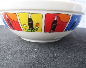 Coca-cola Gibson Cereal Bowl  All Seasons Collectible, Advertising 2725