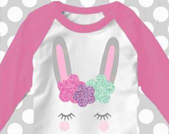 Bunny svg, Bunny with eyelashes, Flower svg, Bunny face svg, SVG, DXF, woodland birthday, woodland animal svg, ice cream svg, eyelashes svg