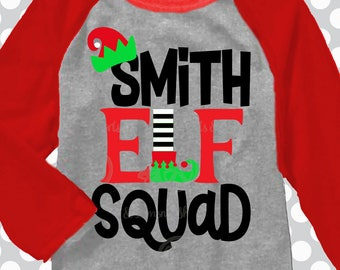 Elf squad svg, Christmas svg, family christmas shirts, iron on, EASY, SvG, DXF, EPS, Christmas pajamas, you print or cut, digital download
