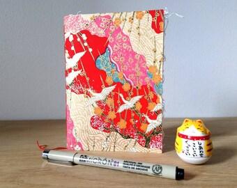 Paper notebook Japanese /carnet note /carnet drawing pattern Japanese/notebook /carnet drawing washi paper handprinted