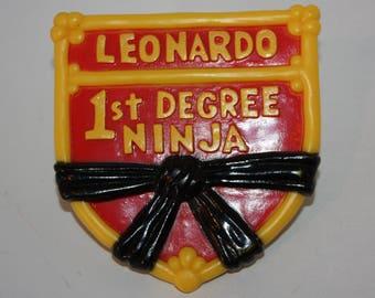 Teenage Mutant Ninja Turtles TMNT Leonardo 1st Degree Ninja 1989 Burger King Toy