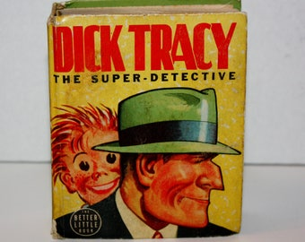 DICK TRACY The Super Dectective Whitman Big Better Little Book #1488 Hardcover 1939