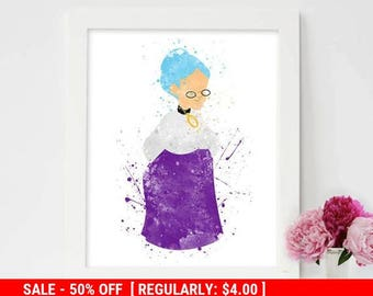 Flat 50% Off Granny, The looney tunes show, Granny Wall art, Cartoon Network, Watercolor painting, Baby Looney Tunes, Cartoon poster, Kids