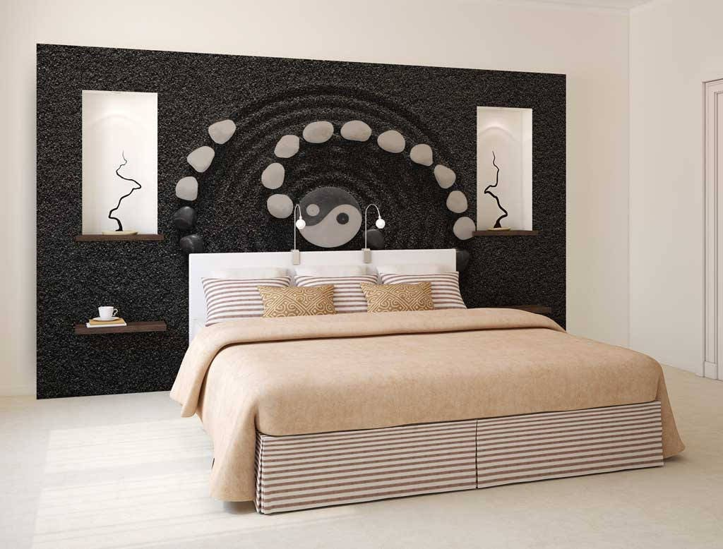 Wall Mural Black And White Wall Decal Yin And Yang Wall Mural