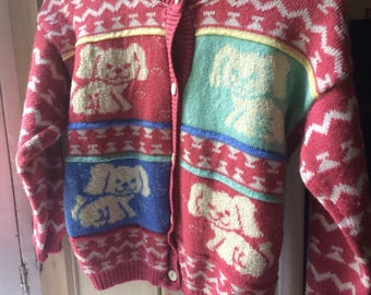 Children's 'Young C and A' dog cardigan