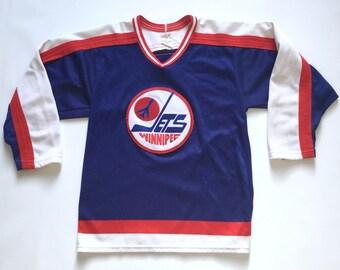 Vintage Winnipeg Jets CCM hockey jersey NHL vtg 80s sz small