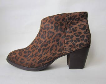 "Leopard leather ankle boots boots ""Andre"" 38 GB 5UK 6, 5US"