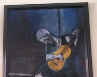 Old man and guitar