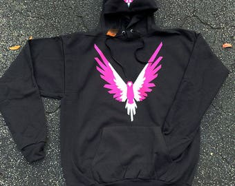 Adult size Pink White Maverick Bird Front/hood hoodie Unisex Team 10 Jake Paul JP hoodie Inspired by Logan Available Kids Size in Store