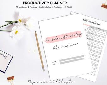 Productivity Planner, Success Planner, Project Planner, Goal Planner, Printable Productivity, Project Planner