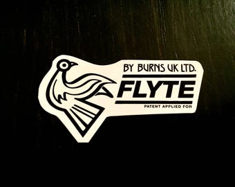Burns UK Flyte Waterslide Guitar Body Decal Logo