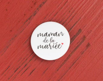 Wedding mother of the bride badge