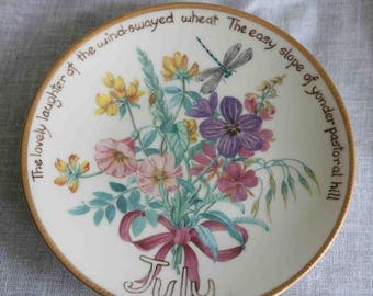 The Country Diary of an Edwardian Lady Limited Edition Plate  'July'  Bradex Davenport  Excellent condition