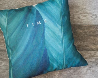Green Leaf Pillow Cover, Palm Leaf Pillow Cover, Green Throw Pillow, Decorative Pillow Cover, Designer Pillow Cover, Cushion Cover
