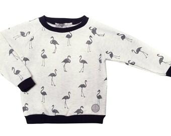 Shiny black flamingos Heather Sweatshirt