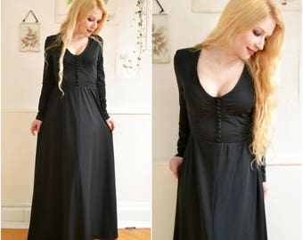 "Vintage dress ""MORTICIA"" Gothic of medieval LARP"