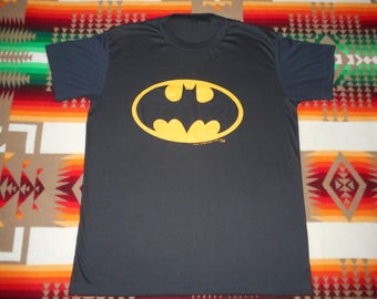 80s Batman DC Comics T Shirt Size large 50/50 Buttery Soft
