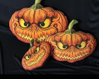 set of 3 Halloween decoration Halloween Pumpkin Pillow Halloween Home Decor Halloween Pillow  Fall decor