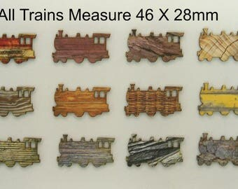 WOODEN TRAINS in SILHOUETTE