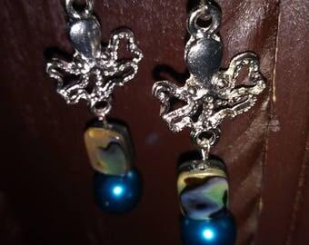 Handmade Silver Leverback Oceana Earrings