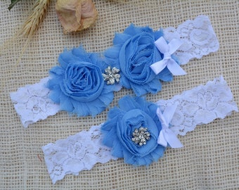 Wedding Garter Blue, Garter Set, Blue Bridal Clothing, Somethig Blue, Garter For Wedding, Garter For Brides, Lace Garter Blue, Keep Garter