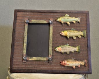 Fish Frame Fisherman Photo Picture Frame 4x6