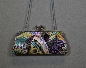 Purple Patterned Handbag