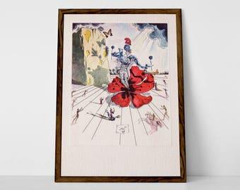 Dali, Limited Edition Giclée (Fine Art / Archival Pigment Print) of 1952 Postcard | Print of Original, Rare Dali French Postcard Lithograph